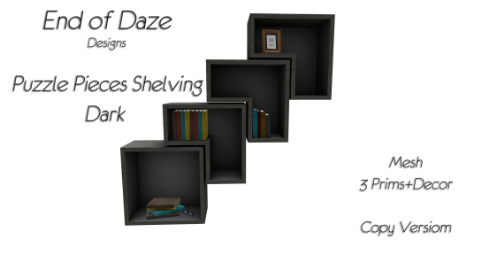 EoD Puzzle Pieces Shelving Dark