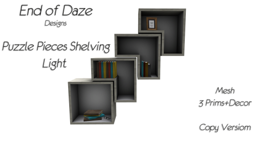 EoD Puzzle Pieces Shelving Light